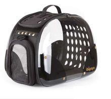 Ibiyaya Hard Rock- przezroczysty transporter do przewozu małych psów lub kota do 6kg wagi, INNOWACYJNY SYSTEM SKŁADANIA!