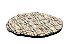 Chaba poduszka beżowa w kratkę, legowisko dla średnich i dużych psów, 102cm x 90cm