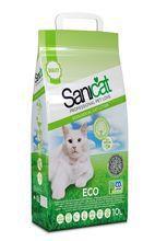 Sanicat Ecological Cat- ekologiczny żwirek z celulozy i makulatury, 10l Wyjątkowo chłonny! 100% biodegradowalny!