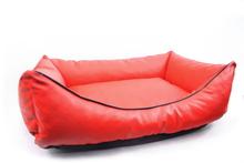 YORK DESIGN Kanapa Eko Skóra- wygodne i praktyczne legowisko dla psa z ekologicznej skóry, kolor czerwony