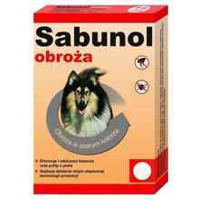 Sabunol Obroża Ozdobna- obroża przeciw kleszczom i pchłom dla psów ras małych, 35cm długości, kolor różowy