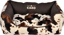 Cazo Country Style Cowboy- przepiękna kanapa dla psa lub kota, Imitacja krowiej skóry!