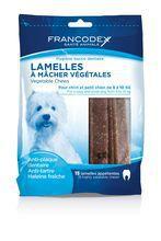 Francodex Lamelles- paski do żucia i gryzienia usuwające kamień i brzydki zapach z pyska, gryzaki dla psów o wadze 5-10kg 15szt