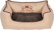Cazo Exclusive Royal- przepiękna kanapa dla psa lub kota, kolor beżowo-brązowy