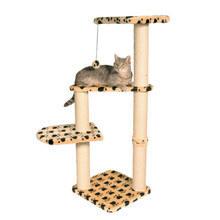 Trixie Altea- drapak dla kota z trzema półeczkami, kolor beżowy w łapki
