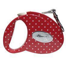 Flexi Fashion Ladies Small Dotts - smycz automatyczna, czerwona w groszki