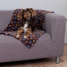 """TRIXIE Laslo-  miękki kocyk  dla psa, brązowy, wzór w """"łapki"""""""