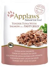 Applaws Natural Tender Tuna & Salmon - karma dla kota z tuńczykiem i łososiem w galaretce, saszetka 70g