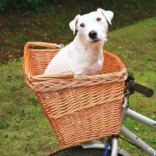 TRIXIE - koszyk wiklinowy z rączką na przód roweru dla psów i kotów, do 8kg wagi