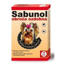 Sabunol Obroża Ozdobna- obroża przeciw kleszczom i pchłom dla psów ras małych, 35cm długości, kolor czarny