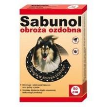Sabunol - obroża przeciw kleszczom i pchłom dla psów 50cm, kolor czarny