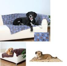 """TRIXIE Laslo- miękki kocyk dla psa, wzór w """"łapki"""" 150 x 100cm"""