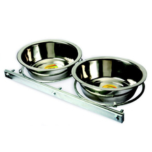 DINGO Podwójna miska przykręcana do kennel klatki lub kojca, dla dużych ras 1,75l , 2,8l, 4,0l