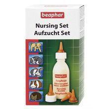 Beaphar Nursing Set - zestaw do karmienia młodych zwierząt, butelka + smoczki