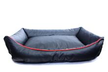 YORK DESIGN Kanapa Eko Skóra- wygodne i praktyczne legowisko dla psa z ekologicznej skóry, kolor czarny