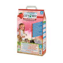 CAT'S BEST Universal Strawberry - uniwersalna ściółka o zapachu świeżych truskawek dla gryzoni, kotów i ptaków, 5,5kg