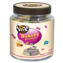 Lolo Pets Biscuits -ciasteczka w kształcie zwierzątek dla psów, słoik 210g mix smaków