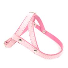 ZOOLESZCZ Smooth - szelki skórzane dla psa (uprząż), różowo-fuksja