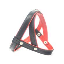 ZOOLESZCZ Smooth - szelki skórzane dla psa (uprząż), czarno-czerwone 40cm