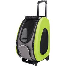 Ibiyaya Eva Apple Green - elegancki transporter do przewozu psa lub kota na kółkach, kolor zielony 4w1!