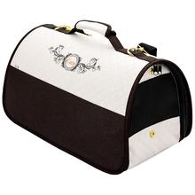 CAZO Exclusive - ekskluzywna torba/transporter na psa lub kota, kremowo-brązowa