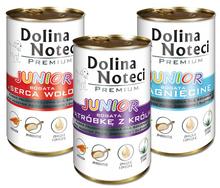 DOLINA NOTECI Junior - pełnowartościowa karma dla szczeniąt i młodych psów średnich i dużych ras, puszka 400g