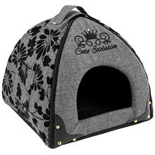 CAZO Noir - ekskluzywna budka dla psa, szara