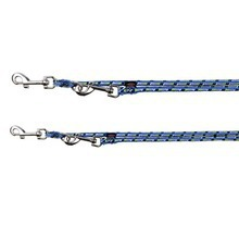 TRIXIE Mountain Rope - smycz regulowana dla psa, idealna dla pasjonatów górskich wycieczek, niebiesko/zielona