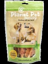 PLANET PET SOCIETY Chicken Chewbone - patyczki zwijane ze skóry wołowej z kurczakiem, 100% mięsa