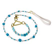 FERPLAST Parure Topaz - włoska biżuteria glamour dla psa, pierwszy raz w Polsce! Niebieski