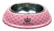 TRIXIE Dog Princess - elegancka miseczka z melaminy dla psiej księżniczki, projekt księżniczki Maji von Hohenzollern