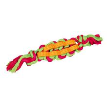 TRIXIE Denta Fun - poskręcany sznur dentystyczny z kauczukiem/zabawka dla psa