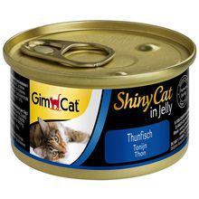 GIMPET SHINY CAT - Tuńczyk - mięso w galarecie dla kota, puszka 70g