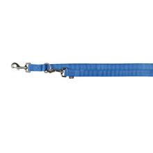 TRIXIE Premium - smycz regulowana dla psa z podwójnej taśmy, niebieska
