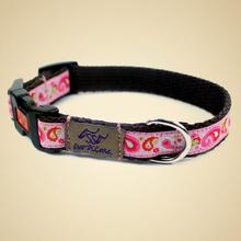 OSSO DI CANE 1.6 Paisley Pink XS - ekskluzywna obroża dla psa
