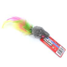 CAMON Mysz z piórkiem 5cm - zabawka dla kota