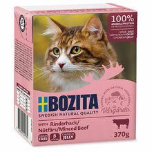 BOZITA Rinderhack - karma dla kota z mieloną wołowiną w galaretce, karton 370g Zawartość mięsa 93 %!