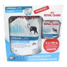 ROYAL CANIN Urban Life Junior S - karma dla szczeniąt ras małych (<10kg) żyjących w mieście, 1,5kg + 3 saszetki GRATIS!