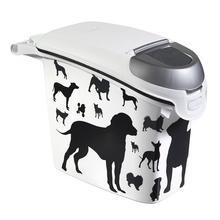 CURVER Petlife Black & White - praktyczny pojemnik na suchą karmę dla psa 6kg