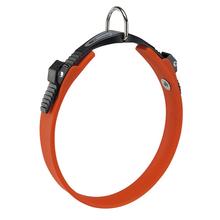 FERPLAST Ergoflex - wytrzymała i elastyczna obroża dla psa wykonana z gumy typu hi-tech, pomarańczowa