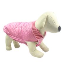 PCHEŁKA Pikowana kurtka dla psa, różowa