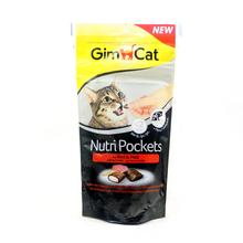 GIMCAT Nutri Pockets Rind & Malz - przysmak dla kota z wołowiną i słodem, 60g