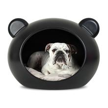 GUISAPET - elegancka budka dla psa, wyjątkowy design, czarna M + poduszka gratis!