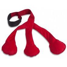TRI PULL TOY – zabawka do przeciągania dla psa z piszczałkami, czerwona