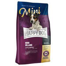 Happy Dog My Little Irland- sucha karma dla psów małych ras na króliku i łososiu, 300g+300g GRATIS!