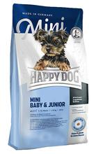 HAPPY DOG Mini Baby & Junior - karma dla szczeniąt ras małych (1-12 miesiąca życia), 300g+300g GRATIS!