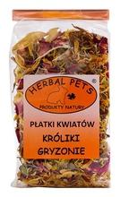 HERBAL PETS Płatki Kwiatów - karma uzupełniająca dla królików, koszatniczek, szynszyli i świnek morskich, 30g