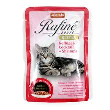 Animonda Rafine Soupe Kitten karma dla młodych kociąt z drobiem i krewetkami, saszetka 100g