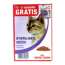 ROYAL CANIN Sterilised MEGAPAKA - saszetki w sosie dla kotów po zabiegu sterylizacji 10+2 GRATIS!