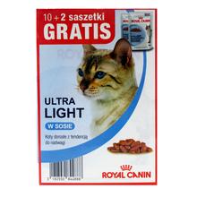 ROYAL CANIN Ultra Light MEGAPAKA - karma dla kotów z nadwagą, saszetki w sosie 10 + 2 GRATIS!